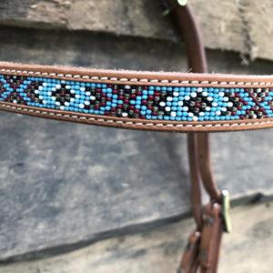 Sidepull Indian mit Perlenstickerei - natur - Perlen